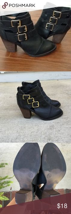 Mossimo black cutout booties Target- Mossimo. Black cutout buckle booties. Worn a couple of times but in great condition. Size 6.5 TTS. Mossimo Supply Co Shoes Ankle Boots & Booties