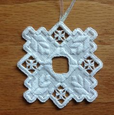 Norwegian Hardanger Holiday Ornament by MnMom23 on Etsy