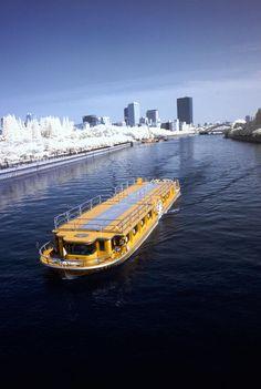 Yellow ship, osaka Winter In Japan, Small Boats, Hiroshima, Japan Travel, Osaka, Cool, Beautiful World, Nautical, Sunrise