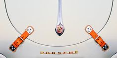 Porsche 1600 Hood Emblem - Car photographs  by Jill Reger