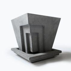 Agave Concrete Planter by QuareWorkshop on Etsy