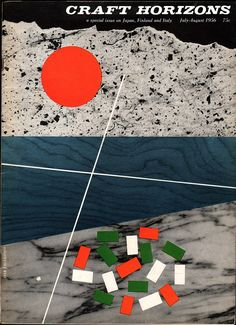 Craft Horizons July/August 1956. Special issue on Japan, Finland and Italy. Cover design: Ivan Chermayeff.