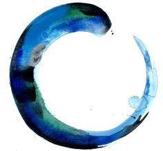 Zen Circle No 16  Original Watercolor by KathyMortonStanion