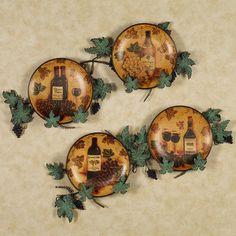 5pc Grapes Wine Ceramic Plates Iron Rack Metal Holder Wall Art Vineyard Tuscan   eBay   ~Skyeu0027s House to HOME~   Pinterest   Ceramic plates Wine and Iron & 5pc Grapes Wine Ceramic Plates Iron Rack Metal Holder Wall Art ...