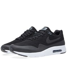 the latest 55ca4 e6bd2 Nike Air Max 1 Ultra Moire (Black, Dark Grey   White) Article  705297-010  Release  2015