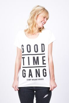 GOOD TIME GANG RELAXED T-SHIRT // WHITE