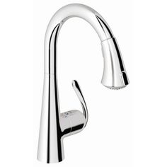 Found it at Wayfair - Ladylux3 Single Handle Single Hole Standard Kitchen Faucet with Dual Spray Pull Down