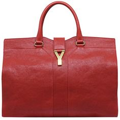 YSL Large Cabas Chyc in Red Leather