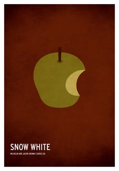 Snow White and the Seven Dwarfs (1937) ~ Minimal Movie Poster by Christian Jackson ~ Classic Children's Story Series #amusementphile