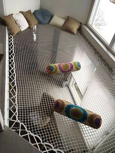 rope hammock space for reading and relaxing - Raumteiler Home Interior Design, Interior And Exterior, Interior Livingroom, Dream Rooms, Cool Rooms, House Rooms, Living Rooms, Home Projects, Diy Home Decor