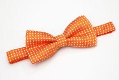 Boys polka dot bow tie - Orange by TianaLorance on Etsy https://www.etsy.com/listing/184654265/boys-polka-dot-bow-tie-orange