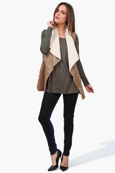 Penny Lane Vest in Taupe