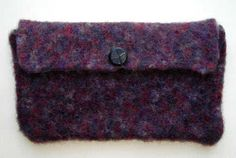 Easy Felted Clutch #Bag #Totes #Purse #Free #Knitting #Pattern