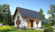 Projekt domu letniskowego Martin LMW18 o pow. 54,1 m2 z dachem dwuspadowym, sprawdź! Village Houses, Play Houses, Simple House Plans, Weekend House, Home Fashion, Interior And Exterior, Tiny House, Beautiful Homes, Gazebo