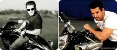Who looks more dashing ??    a. Salman Khan  b. John Abraham    Find motorcycle of popular brands here:http://purtips.com/Automobiles/Bikes
