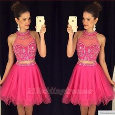 Beautiful Homecoming Dresses,Beaded Dresses,Short Prom Dresses, 2 Pieces Party Dresses,Sparkly Homecoming Dresses,Homecoming Dresses For Teens http://21weddingdresses.storenvy.com/collections/919482-homecoming-dresses/products/17116638-charming-short-beading-homecoming-dress-pretty-cocktail-dresses-2-pieces-gra