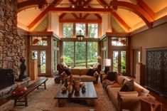 Mountain house nestled in the north Georgia Mountains