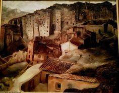 """Exposición Wifredo Lam. """"Casas colgadas III"""" 1927. Wifredo Lam Exhibition. """"Hanging houses III"""" 1927."""