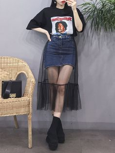 Teen Fashion Outfits, Mode Outfits, Casual Outfits, Womens Fashion, Casual Skirts, Retro Outfits, Korean Fashion Trends, Asian Fashion, Look Fashion