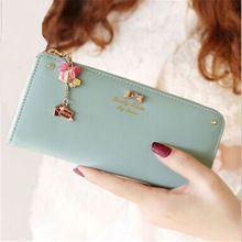 Freies Verschiffen 2016 Frauen Mode Geldbörse Leder Geldbörse Brieftaschen Kupplung Reißverschluss dame Lange Handtasche Geschenk Top Qualität N530(China (Mainland))