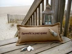 The World is Your Oyster Pillow