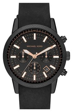 MICHAEL Michael Kors Michael Kors 'Scout' Chronograph Silicone Strap Watch, 43mm available at #Nordstrom