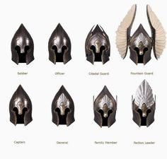 Helms of Gondor, Lord of the rings