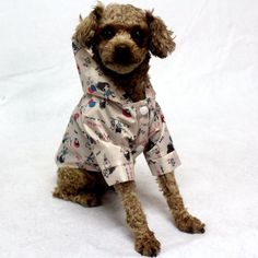 New Light and thin waterproof fabric dog raincoat clothes Cute print pattern hoodie dog rain coat pet raincoats for small dogs. I Love Dogs, Cute Dogs, Dog Branding, Dog Raincoat, Puppy Care, Dog Crate, Waterproof Fabric, Little Dogs, Dog Supplies