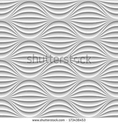 White seamless texture Poster Wavy background Poster Interior wall decoration Poster Vector interior wall panel pattern Poster Vector white background of abstract waves Poster Poster. Textured Walls, Textured Background, Wall Texture Design, Abstract Waves, Stock Image, Simple Interior, Wall Finishes, Seamless Textures, Wave Design