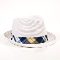 8ef90be7cc8  8.50 Braided Paper Straw Plaid Banded Hat - U.S. Polo Assn Boys  Hats -  Events