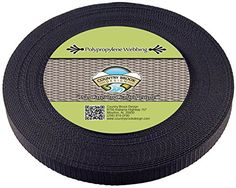 Country Brook Design 3/4 Inch Black Heavy Polypro Webbing...