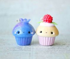 Cute clay fruit cupcakes