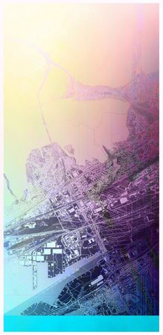 AUTONE - Urban planner who makes his maps look like art pieces ! Amazing !