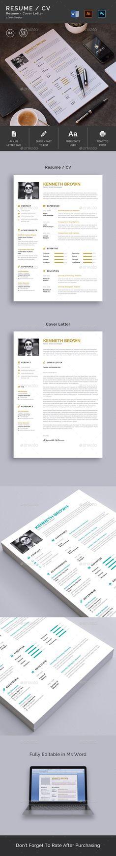 Resume Template PSD, AI Illustrator, MS Phrase - & Letter Paper Measurement - Obtain: graphicriver. Illustrator Resume obtain Best Free Resume Templates, Modern Resume Template, Cv Template, Cv Design, Resume Design, Resume Cv, Branding Design, Best Resume Format, Cv Format