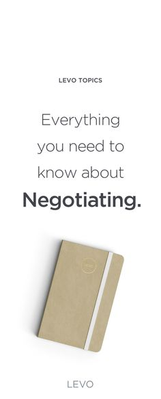 Are you ready? It's Negotiation time.