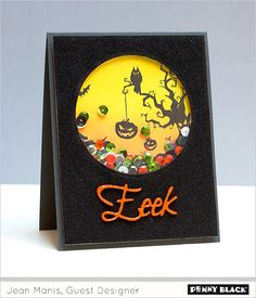 A week of Halloween inspiration featuring Penny Black stamps and dies and the clean and simple style of guest designer, Jean Manis