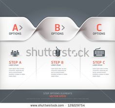 Modern spiral step options banner. Vector illustration. can be used for workflow layout, diagram, number options, web design. by graphixmania, via ShutterStock