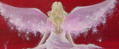 "Limited angel art photo ""meeting"" , modern angel painting, artwork, picture, digital, frame on Etsy, $14.26"