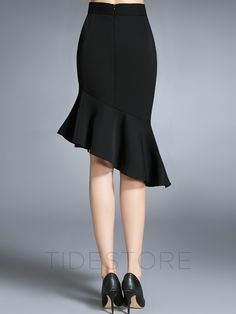 Asymmetric Falbala Patchwork Mermaid Mini Skirt