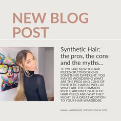 There are so many pros to synthetic hair - quick to apply, long lasting style and easy on the bank balance. Get all the pros, cons and myths debunked in our latest blog. Types Of Hair Extensions, Synthetic Hair Extensions, Hair Rehab London, Bouncy Blow Dry, London Blog, Hair Fixing, Common Myths, Dry Shampoo, Hair Pieces