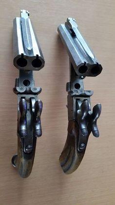 19th Century Pinfire Pistol with Bayonet