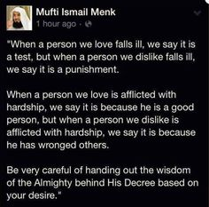 Mufti Ismail Menk may Allah s. Islam Hadith, Islam Quran, Alhamdulillah, Quran Quotes Inspirational, Faith Quotes, Motivational, Muslim Quotes, Religious Quotes, Muslim Sayings