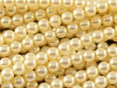 Perły Szklane Woskowane Ecri Kule 5mm 10szt - kamyczki-pl - Sztuczne perły