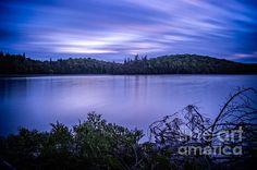 Evening at Surf lake. Lake Superior Provincial Park, Ontario Canada.