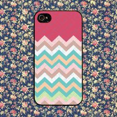 Pastel Chevron for iPhone 4, iPhone 4s, iPhone 5 /5s/5c, Samsung Galaxy S3, Samsung Galaxy S4 Case