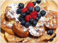 Challah french toast...i'm gunna make it all from scratch someday when i have time.
