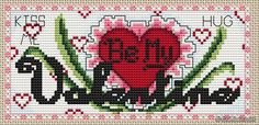 Be my Valentine-free pattern chart