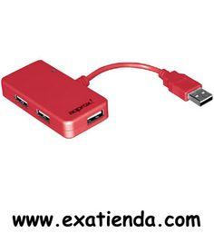 Ya disponible Hub Approx 4 ptos travel rojo USB 2.0 apphtravelr   (por sólo 12.95 € IVA incluído):   -Concentrador de 4 puertos USB, de diseño cómodo y compacto. • Conexión: USB 2.0 con transferencias de hasta 480Mbps • 4 Puertos USB y conector USB • Regulador de voltaje integrado • Plug and Play • Diseño funcional y compacto -Color: Rojo -Indicador LED  -P/N: APPHTRAVELR Garantía de 24 meses.  http://www.exabyteinformatica.com/tienda/1063-hub-approx-4-ptos-trav