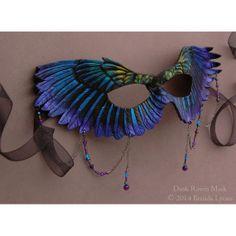 Dusk Raven Mask Leather Raven Wings Fantasy Bird by windfalcon