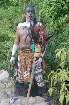 Aztec Indian at IXCARET in Yucatan.